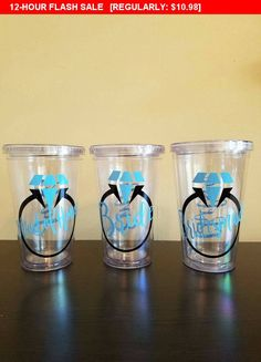 Personalized Acrylic Tumbler, Monogrammed cup, custom design, travel tumbler with lid and straw, vinyl decal, novelty, sport, wedding, favor