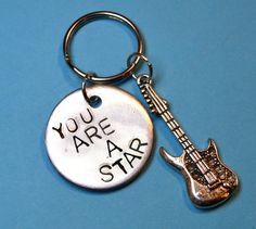 Music gift Guitar Musical gift You are by BeesHandStampedGifts