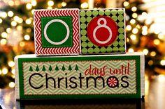 (diy tutorial) christmas countdown blocks