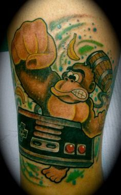 42 Best Donkey Kong Tattoo Designs Images In 2017 Design Tattoos