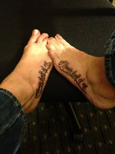 "Twin tattoo ""Forever half of me""."