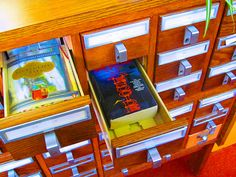 MASSACHUSETTS, Attleborough  #3815 Here's an idea for public and school libraries...use your old card catalog and turn it into a Little Library!
