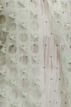 Fabric manipulation - textile designs - Fabrics from Christian Dior haute couture s/s 2014 Textile Texture, Textile Fabrics, Fabric Textures, Textile Patterns, Print Patterns, Couture Details, Fashion Details, Fashion Design, Fashion 101