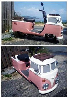 Motor Scooters, Vespa Scooters, Vw Cars, Pedal Cars, Weird Cars, Cool Cars, Triumph Motorcycles, Ducati, T2 Bus