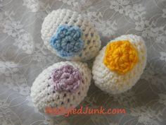easter+crochet+patterns+free | Free Crochet Pattern: Easter Eggs...these are made with plastic eggs ...
