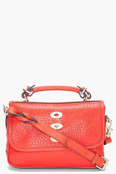 Mulberry Flame Small Bryn Shoulder Bag for women   SSENSE Little Bag, Carry  On, df2ec59cd5