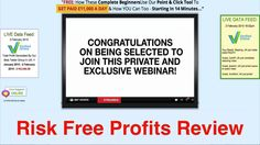 Risk Free Profits Review - Get the truth now!