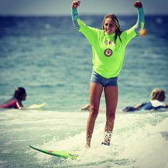 Snapper Club Competition. Celebrating. @alyssalock #surf #surfer #surfing #surfergirl #girlsurfnetwork #nikon #mynikonlife #sea #sun #waves #ocean #summer #surfphotography #surfphoto #surfline #snapperrocks #goldcoast by olivier_rachon_photography