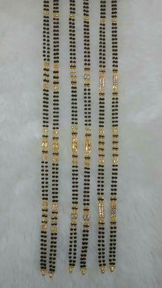 Diamond Mangalsutra, Gold Mangalsutra Designs, Gold Earrings Designs, Jewellery Designs, Necklace Designs, Gold Jewellery, Bridal Jewelry, Beaded Jewelry, Beaded Bracelets