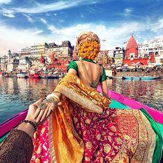 "Murad Osmann on Instagram: ""#followmeto Varanasi, India with @natalyosmann. My favorite one so far :)."""