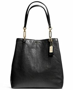 24e0fe69b30 COACH MADISON NORTH SOUTH TOTE IN LEATHER Handbags   Accessories - COACH -  Macy s