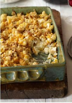 Cauliflower-Cheddar Bake — What's better than a cheesy and delicious Healthy Living recipe? A cheesy and delicious recipe that only requires 5 ingredients and 30 minutes of your time.