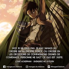 Levi Ackerman, Attack On Titan Manga Anime, Otaku Anime, Yes Man, Manga Quotes, Bleach Anime, Gurren Lagann, Asuna, Teen Titans, Attack On Titan