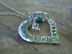 Sterling Silver Open Heart Necklace Mother by KottageKreations, $35.00