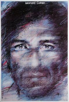 Leonard Cohen, Polish Poster, designer Waldemar Świerzy year: 1985