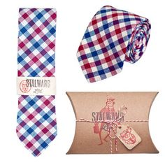 Image of Navy Red Check
