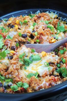 Slow Cooker Chicken Enchilada Quinoacountryliving