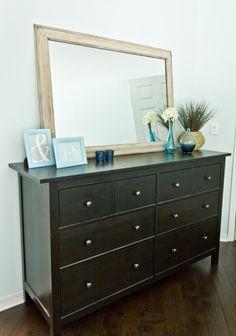 Simple yet stylish ikea hemnes dresser ideas for your home 35 Ikea Hemnes Nightstand, Ikea Dresser Makeover, Dresser Ideas, Home Bedroom, Bedroom Decor, Bedrooms, Bedroom Ideas, Master Bedroom, Bedroom Colors