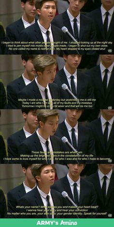 BTS'speech at the United Nation General Assembly 2030 - Quotes Namjoon, Bts Taehyung, Bts Bangtan Boy, Jimin, Rapmon, Bts Lyrics Quotes, Bts Qoutes, Rain Quotes, K Pop