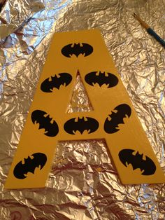 Hand Painted Batman Letter