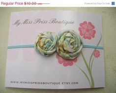 Shop closing 40 off rolled fabric rose by Mymissprissboutique, $6.00