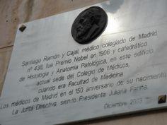 placa a D.RAMON Y CAJAL