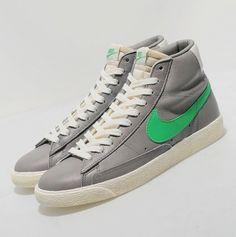 #Nike #Blazer #Green #Grey