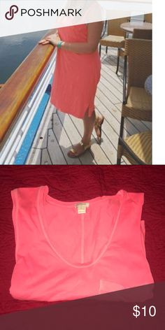 Pink midi dress Dress with pocket. Like new. J.Crew Factory Dresses