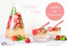 Bei über 30 Grad im Schatten braucht es eine ordentliche Abkühlung. Hugo war gestern, heute gibt es den Erdbeer Hugo als prickelnde Sommer Bowle - alkoholfrei oder mit Alkohol.  Zutaten: 500 g frische