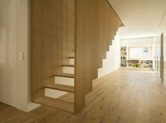 Suspended Staircase by SoHo Architecture / stairs / modern home / contemporary design / loft Floating Staircase, Modern Staircase, Staircase Design, Timber Staircase, Stair Design, Staircase Ideas, Spiral Staircase, Stair Idea, Floating Floor