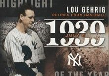 2015 Topps Series 2 Highlight of the Year #H-37 Lou Gehrig - New York Yankees