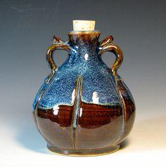 Ceramic bottle handmade serving vinegar oil by hughespottery, $45.00