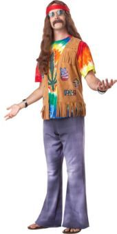Adult Far Out Hippie Costume - Party City