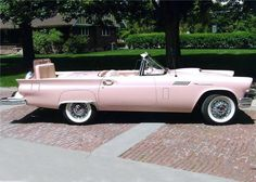 1957 Ford Thunderbird Custom Convertible  via 1950sbeautifulyears