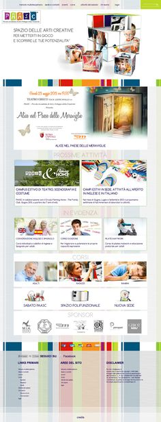 Galleria grafica siti web by Lorenza Ancilli, via Behance  #webdesign #webdevelopment #website paasc.it