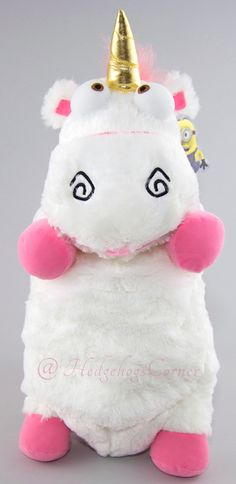 "Despicable Me Unicorn Plush ""IT'S SO FLUFFY!!!"" 26"" XLarge Brighter Pink Variant"