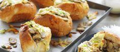 Mushroom & Cheese Melt Rolls