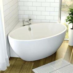 Affine Fontaine Corner Freestanding Bath 1270mm X With Built In Waste Small  Bathtubcornernarrow Bathtub Smallest Size India Lowe S Bathtubs Clawfoot 900 00 450