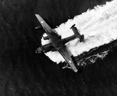 Martin PBM Mariner on water off the coast of Florida, April 1943. Photographed by Lieutenant Victor Jorgensen. ~ BFD