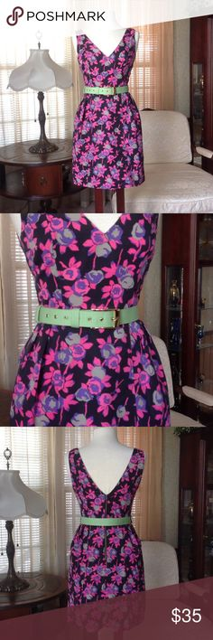 "Plenty by Tracy Reese floral dress Worn just once. I do not have the black belt but I will throw in the belt shown. Made of 100% polyester.  It is 35.5"" long laying flat.                                             e Plenty by Tracy Reese Dresses"