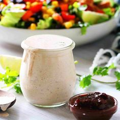 A jar of Chipotle Ranch Dressing with cilantro, chipotle peppers, and limes around it. Chipotle Ranch Dressing, Ranch Dressing Recipe, Ranch Recipe, Lime Dressing, Spicy Recipes, Mexican Food Recipes, Homemade Chipotle, 5 Minute Meals, Everyday Dishes