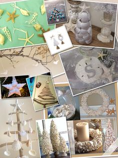 Beach Christmas decorations and ornaments