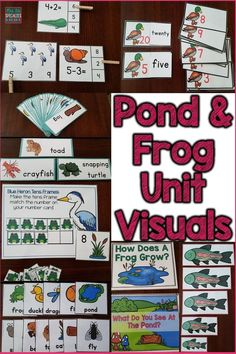 Visuals and hands on learning tasks are just what my special education students need to learn about the pond and frogs! I use these with my autistic students in my self contained classroom. They help my students learn the  unit vocabulary, features and animals associated with pond while practicing their math and reading skills.