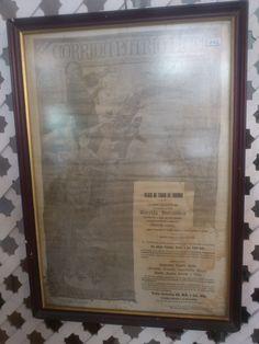 """Cartel en seda de 1898 """" Corrida Patriótica"""""""