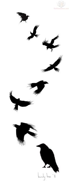 flying-crow-tattoo-design.jpg (600×1556)