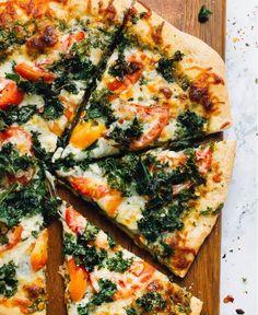 Kale Pesto Pizza Recipe | FaveHealthyRecipes.com