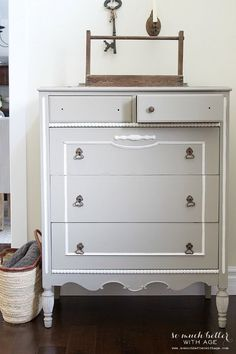Ugly Bird Dresser to Beautiful French Dresser   So Much Better With Age