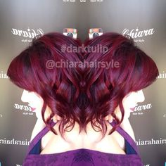 Cristina ....#darktulip..#wow #violet #haircolor #hardcolor #rockhair #hairsalon #nice ...#quality @chiara_hairstyle ...