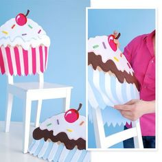 Pink Cupcake Chair Cover!