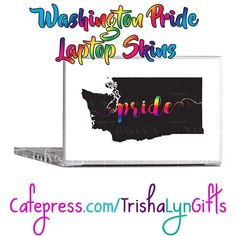 From my State Pride Collection: this Washington Pride Laptop Skin is available now in my Cafepress store! This same design is available on clothing drink ware home goods jewelry and more! http://ift.tt/2ghU6IW  #statepride #pride #lgbtqpride #gaypride #advocate #proudadvocate #usa #maps #rainbow #shopsmall #LaptopSkins #Washington #WashingtonPride #PrideWashington #pridegifts #pridedesign #pridetech #LGBTQI #LGBTQ #LGBT #buzzfeedlgbt #queerpride